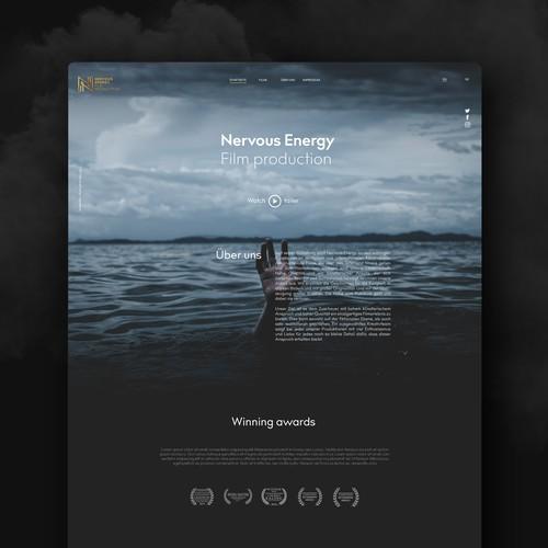 Website design for a film production company