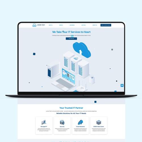 Lumari Tech Webflow Website Design