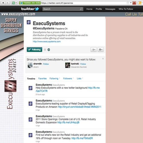 Help ExecuSystems with a new twitter background