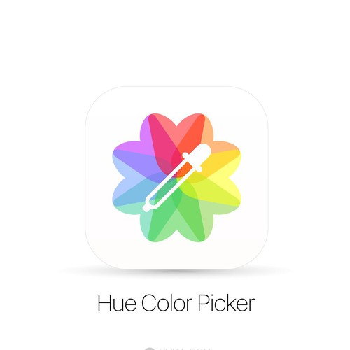 Clean and colorfull concept for color picker apps icon