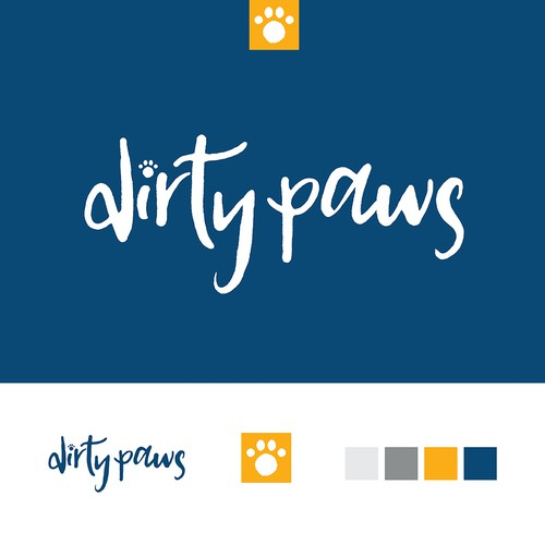 Playful logo for Dirty Paws