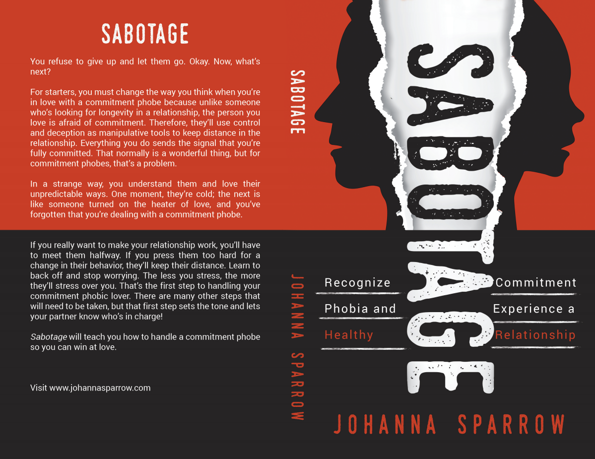 Update Sabotage with new title on full cover and eBook cover.