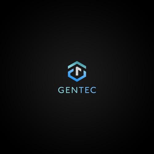 Logo for an skin care tech company