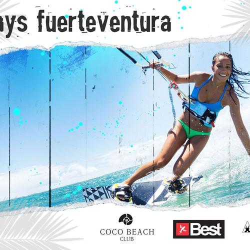 Kite surf print banner