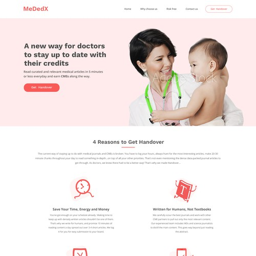 Web design for medical education app