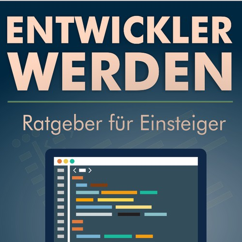 Creative eBook cover design for a programming related topic