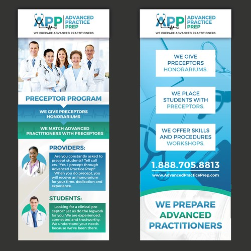 trade show banner design for Advanced Practice Prep