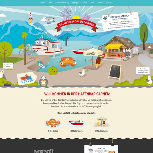 Hafenbar Sarnen Web Design