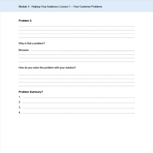 Word template for a questionnaire