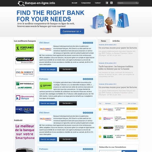 Help banque-en-ligne.info with a new website design