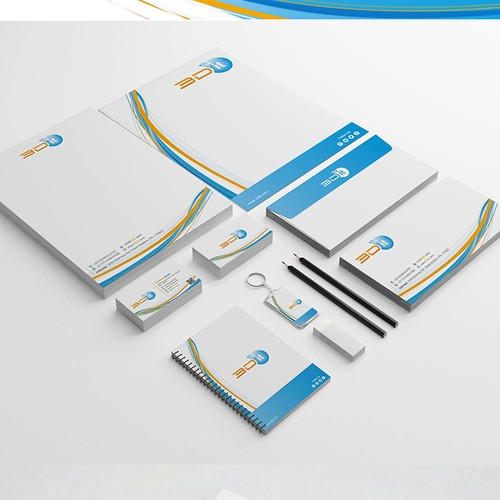 Creative Brand Stationery for 3D Printing Company