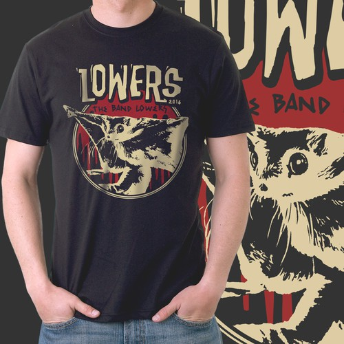 NYC band t-shirt design. Inspired by vintage punk and metal t-shirts.