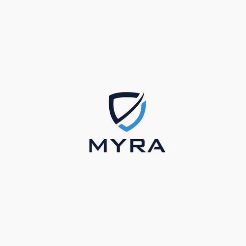 MYRA logo design