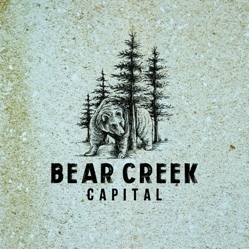 Bold engraved drawing logo for Bear Creek Capital