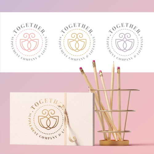 sophisticated logo for Supplement company and lifestyle brand for women