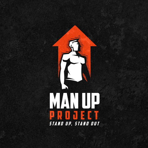 Bold logo for Man Up Project