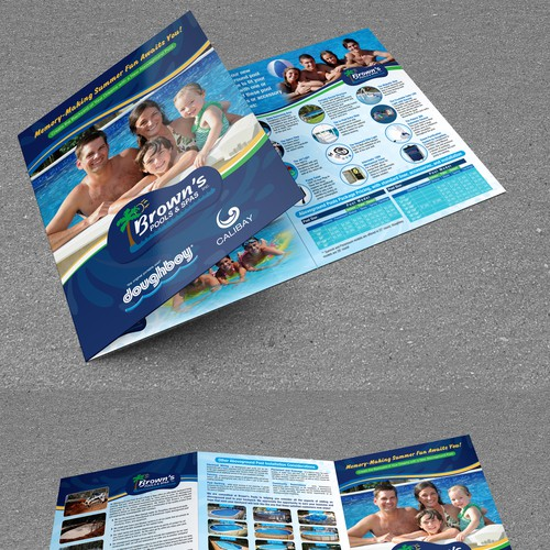 Bi-Fold Brochue for Brown's Pools & Spa