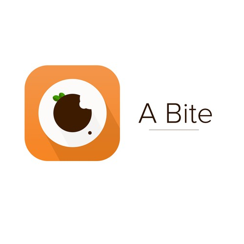 Create iOS App Icon for new Foodie Social Network, A Bite