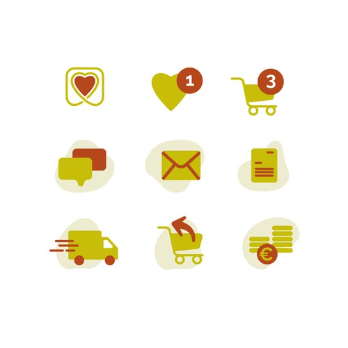 Konzept für Iconset für Lomadox GmbH