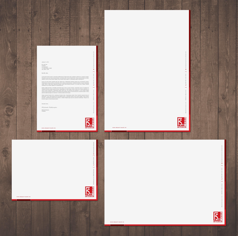 Erstelle Briefpapier für neue Design-Klassiker