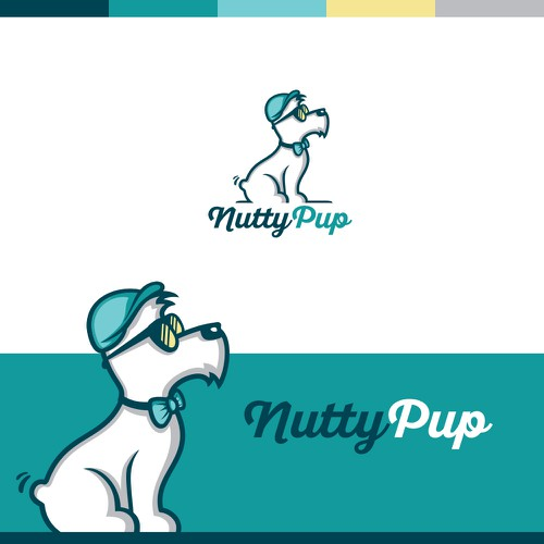 """Hipster logo for """"Nutty Pup"""""""
