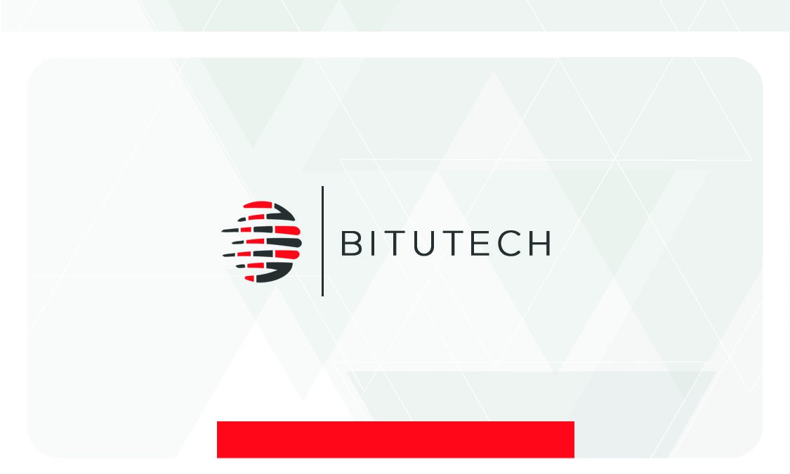 Design a simple minimalistic - modern design for BITUTECH. remember it is oil product.