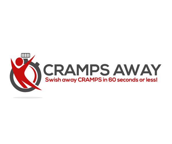 Logo for solution that swishes AWAY muscle cramps in 60 seconds or less!