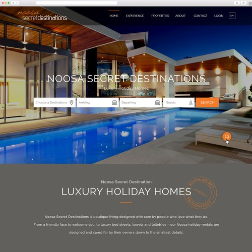 Luxury Accomodation Website