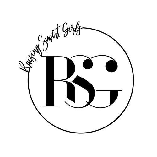 "Logotype for ""Raising Smart Girls"" social impact venture."