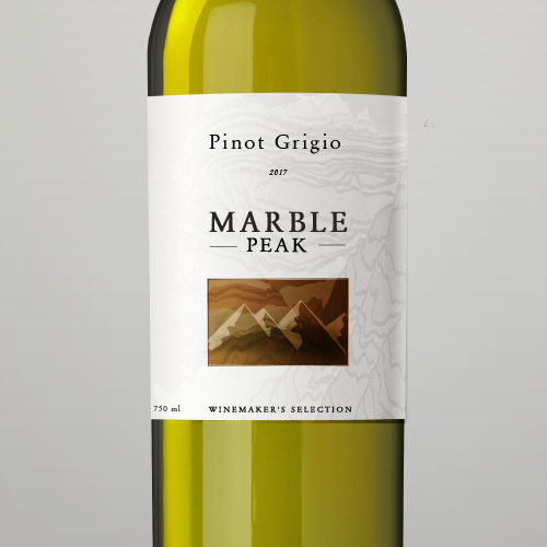 premium wine label for Marble Peak