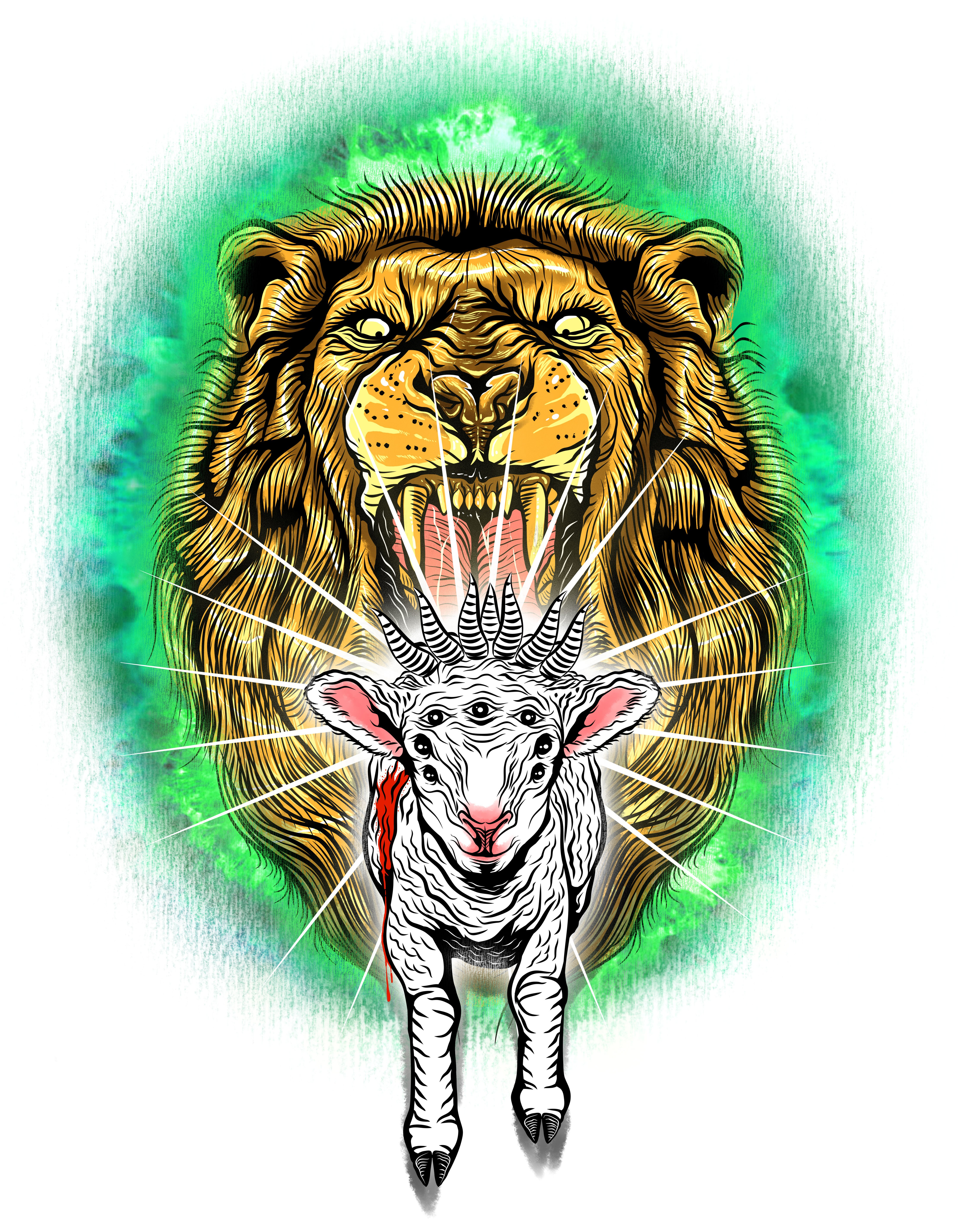 """Help create The Lion & The Lamb complex t shirt for STK Apparel"""