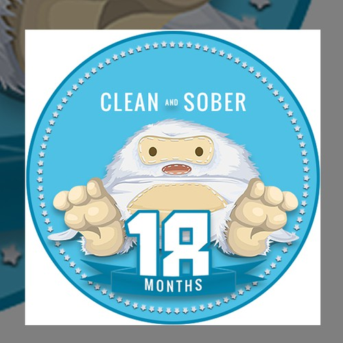 Sticker for sobriety coin/chip