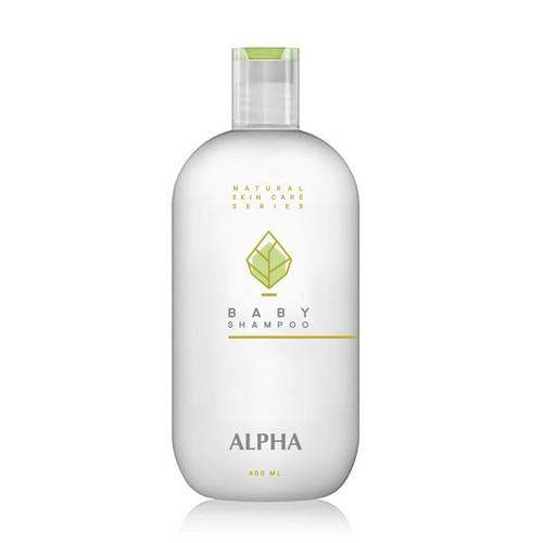 Baby shampoo label