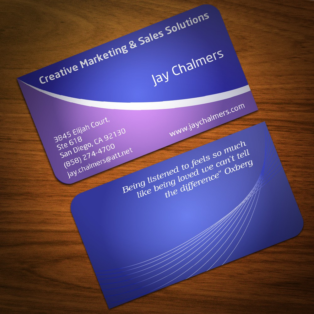 Creative Marketing and Sales Solutions needs a new stationery