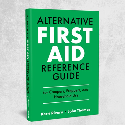 Simple Book Cover for a first aid book.