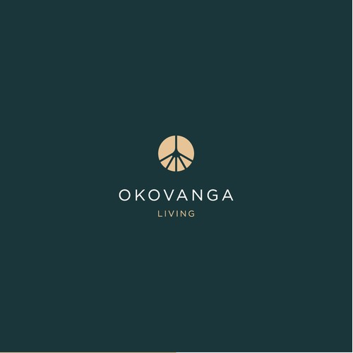 Logo for a modern interior living brand with African heritage