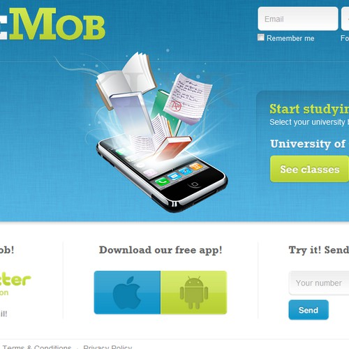 www.coursemob.com needs a new design