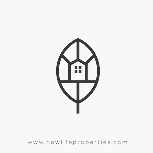 Modern logo for New Leaf Properties