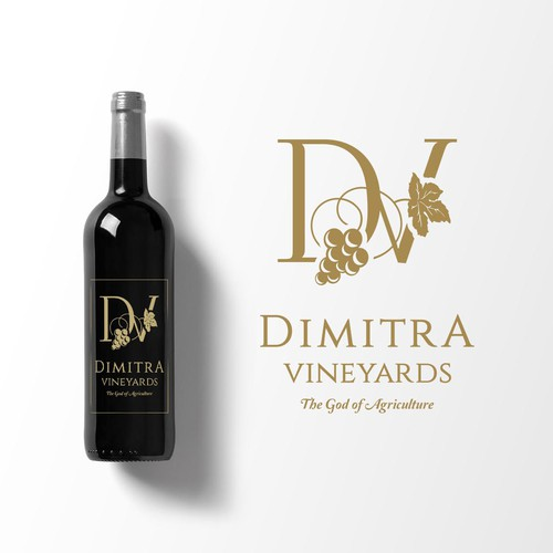 Winning logo for Dimitra Vineyards