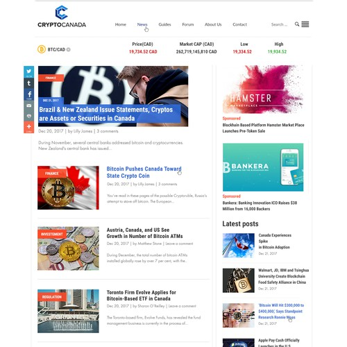 Website for cryptocurrency news