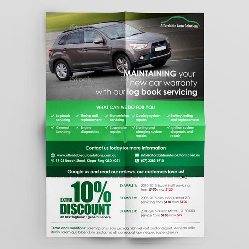 Eye catching automotive A5 flyer required for increasing business!
