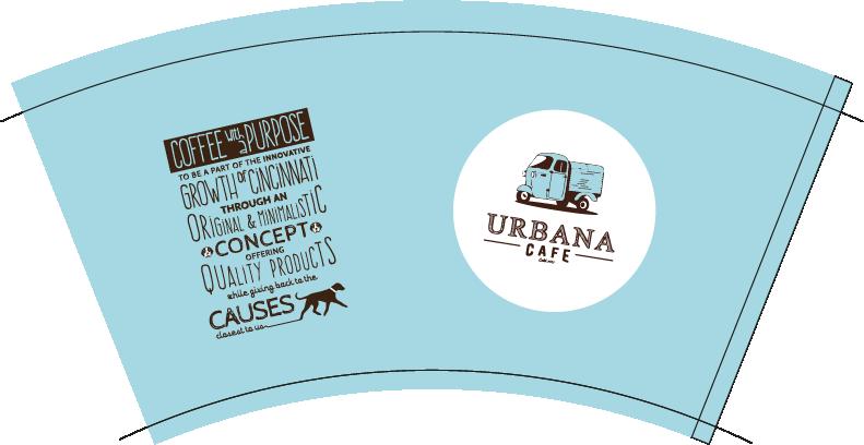 Custom Paper Cups, for Urbana Cafe