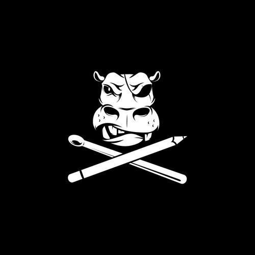 "Badass boat flag design ""Aarrr matey"""