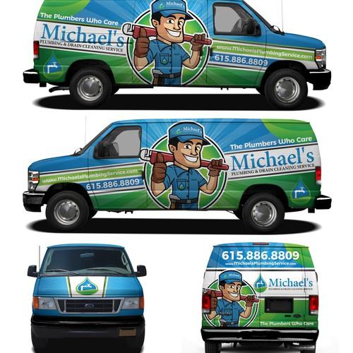 Michaels Van wrap design