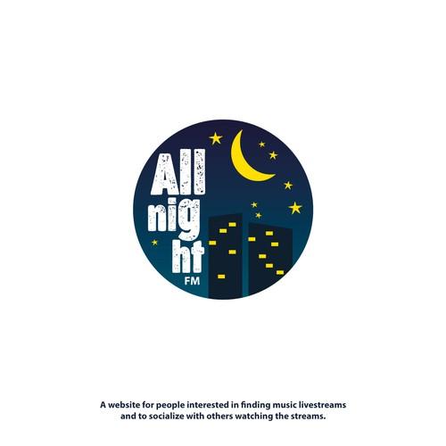 Logo for night FM