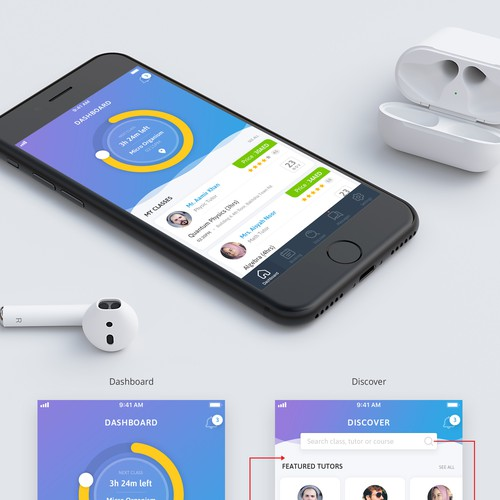 App Concept for Tutoring App