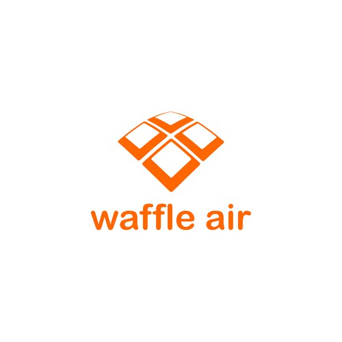Create a logo for the anticipated waffle quadcopter