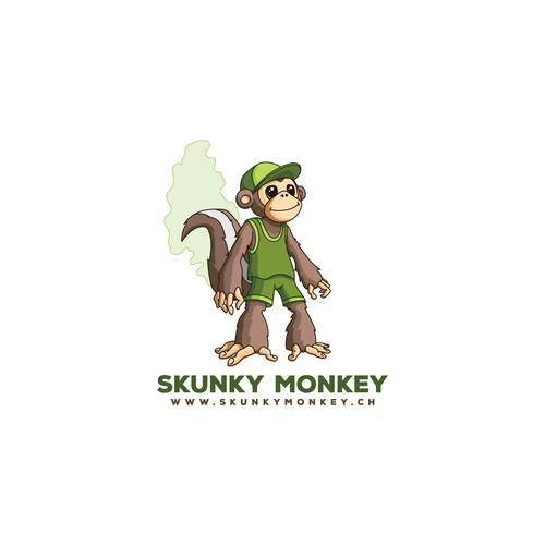 Skunky Monkey logo