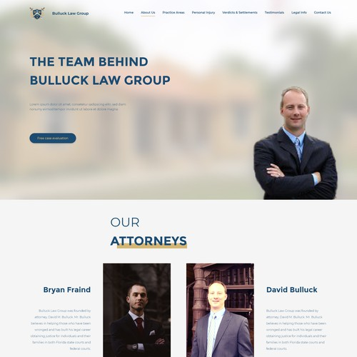 Clean and modern Law practice Website