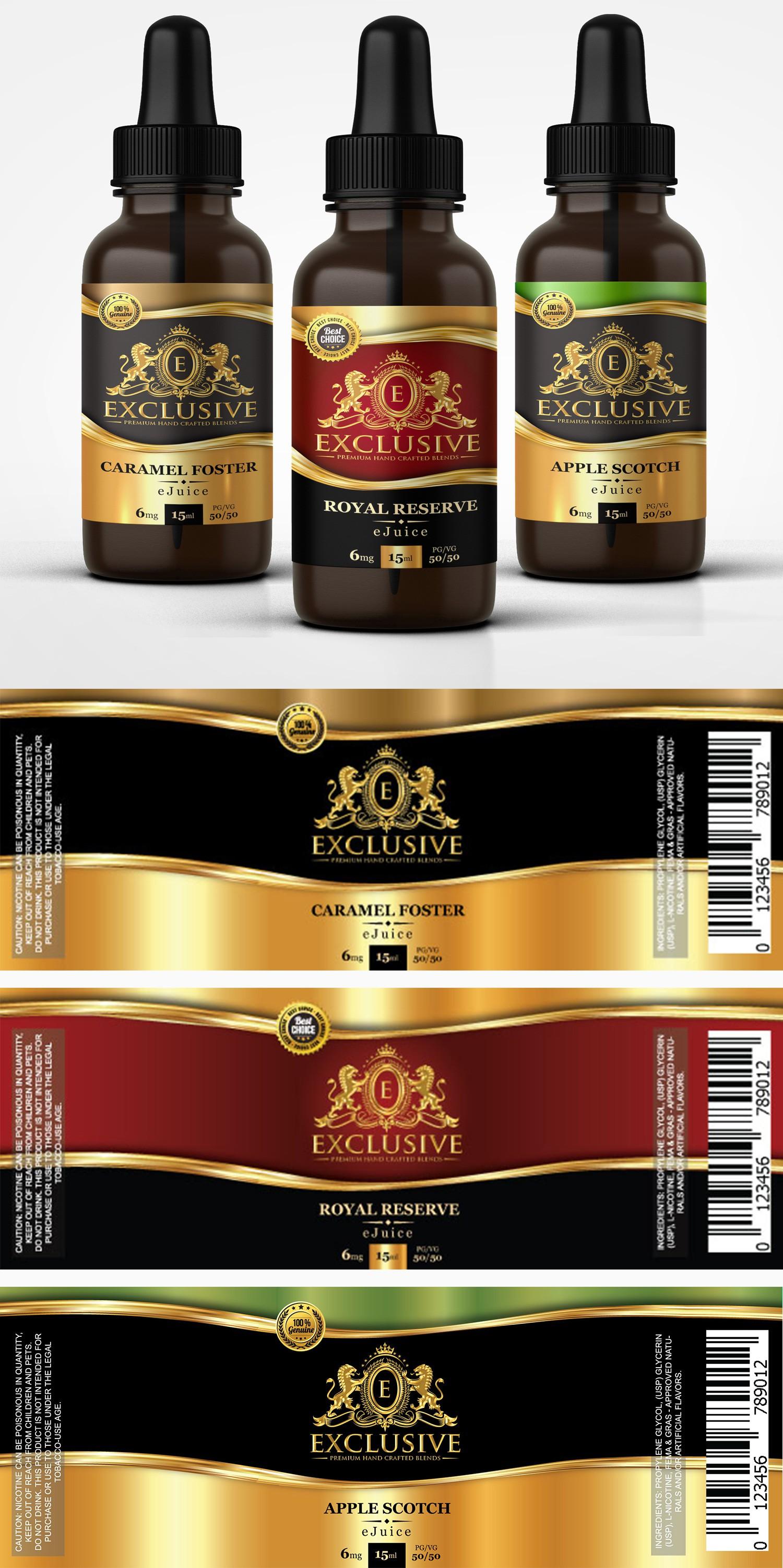 design label for up and coming premium E liquid company